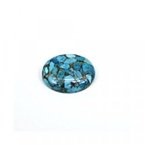 Natural Mohave Blue Copper Turquoise 24x20mm Oval Cabochon 22.85 Cts Loose Gemstone