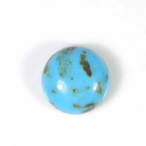 Natural Mohave Turquoise 13x13mm Round Cabochon 7.85 Cts