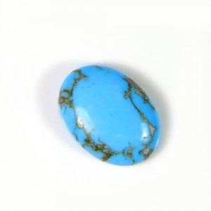 Natural Mohave Turquoise 18x13 Oval Cabochon 8.95 Cts