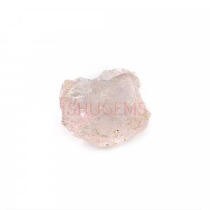 Natural Morganite 14x11mm Freeform Rough 5.50 Cts