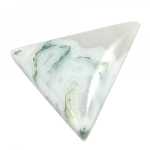 Natural Moss Agate 12x12mm Trillion Cabochon 12.0 Cts