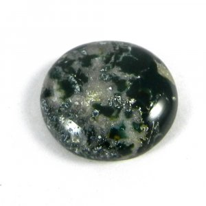 Natural Moss Agate 18mm Round Cabochon 19.25 Cts