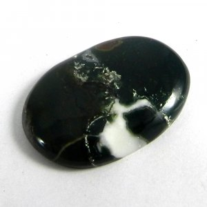 Natural Moss Agate 32x22mm Oval Cabochon 32.25 Cts