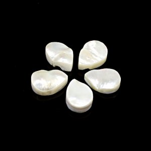 Natural Mother Of  Pearl 28.85 Cts  Pear Flat 14x10mm 5 Pcs Lot Loose Gemstone