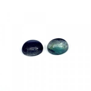 Natural Multi Fluorite 11x9mm Oval Cabochon 8.45 Cts 1 Pair Loose Gemstone