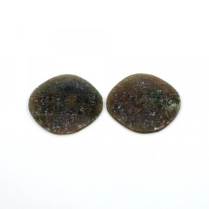 Natural Multi Sapphire Cushion Checker Cut 35.20 Cts 23x23mm 1 Pair Loose Gemstone
