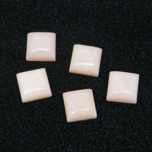 Natural Pink Opal 8x8mm Square Cabochon 2.65 Cts