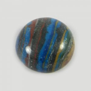 Natural Rainbow Calsilica 16mm Round Cabochon 8.5 Cts