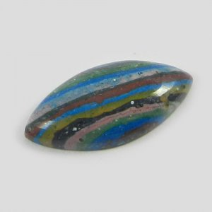 Natural Rainbow Calsilica 21x10mm Marquise Cabochon 5.25 Cts
