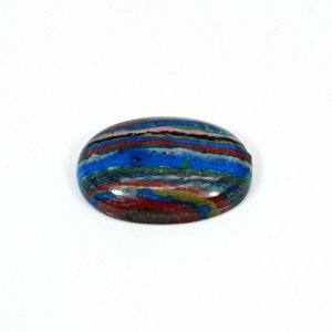Natural Rainbow Calsilica 28x19mm Oval Cabochon 23.5 Cts Loose Gemstone