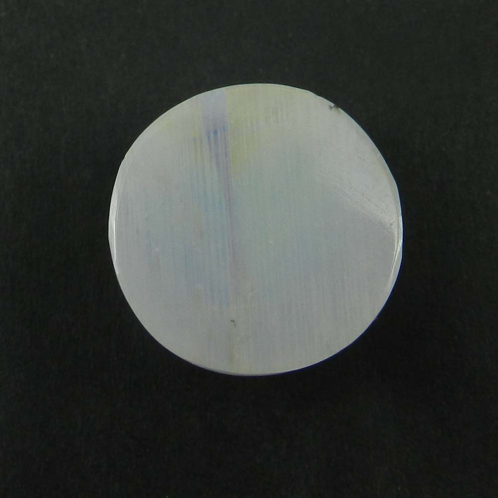 Natural Rainbow Moonstone 16mm Round Checker Rose Cut 12.3 Cts