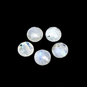 Natural Rainbow Moonstone 17 Cts Round Briolette Cut 10mm 5 Pcs Lot Loose Gemstone
