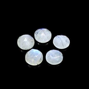 Natural Rainbow Moonstone 18 Cts Round Rose Cut 10mm 5 Pcs Lot Loose Gemstone