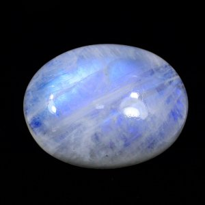 Natural Rainbow Moonstone 26x20mm Oval Cabochon 34.25 Cts