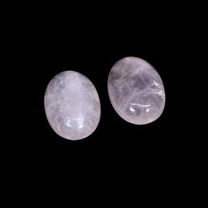 Natural Rose Quartz Oval Cabochon 18x13mm 21.65 Cts 1 Pair Loose Gemstone