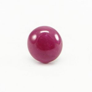 Natural Ruby 11x10.5mm Round Cabochon 5.4 Cts