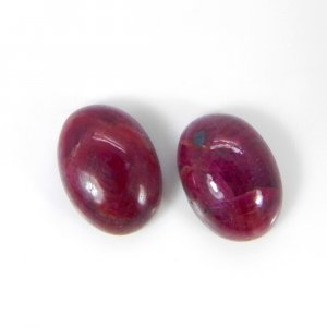Natural Ruby 14x10mm Oval Cabochon 10.35 Cts