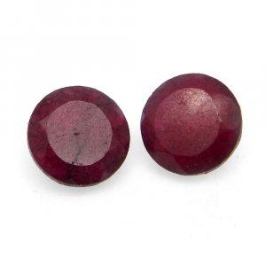Natural Ruby Corundum 10mm Round Cut 3.3 Cts