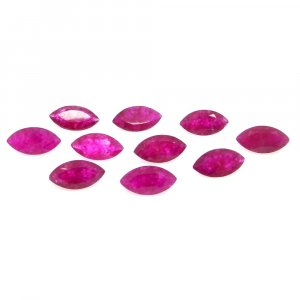 Natural Ruby Corundum 10x5mm Marquise Cut 1.15 Cts