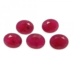 Natural Ruby Corundum 10x8mm Oval Cut 2.7 Cts