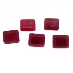 Natural Ruby Corundum 11x9mm Octagon Cut 4.85 Cts