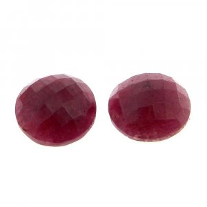 Natural Ruby Corundum 12mm Round Rose Cut 7.45 Cts