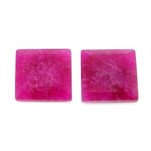 Natural Ruby Corundum 12x12mm Square Tablet Cut 5.75 Cts