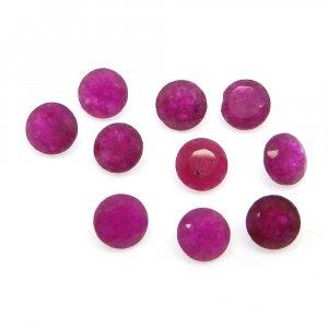 Natural Ruby Corundum 5mm Round Cut 0.7 Cts