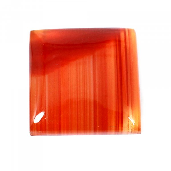 Natural Sard Red Onyx 18x18mm Square Cabochon 14.65 Cts