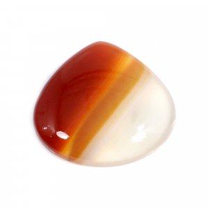 Natural Sard Red Onyx 21x20mm Heart Cabochon 13.60 Cts
