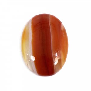 Natural Sard Red Onyx 23x17mm Oval Cabochon 14.30 Cts