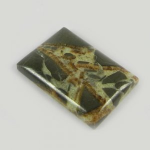 Natural Septarian Jasper 25x17mm Rectangle Cabochon 20.25 Cts Loose Gemstone For Jewelry Making
