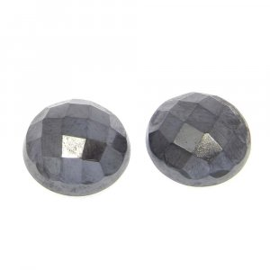 Natural Silicon 10mm Round Checkerboard Cut Cab 6.0 Cts