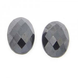 Natural Silicon14x10mm Oval Checkerboard Cut Cab 9.38 Cts