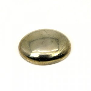 Natural Silver Pyrite Oval Cabochon 22.40 Cts 19x14mm Loose Gemstone