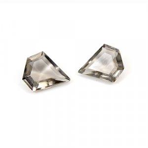 Natural Smoky Quartz 10x8mm Pentagon Cut 3.70 Cts 1 Pair Loose Gemstone