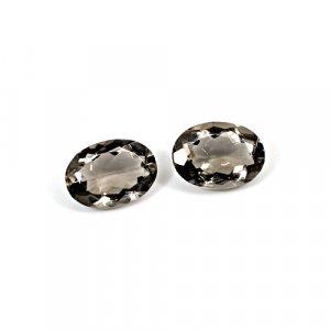 Natural Smoky Quartz 11.15 Cts Oval Cut 14x10mm 1 Pair Loose Gemstone