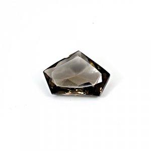 Natural Smoky Quartz 14.25 Cts Pentagon Cut 29x15mm Loose Gemstone