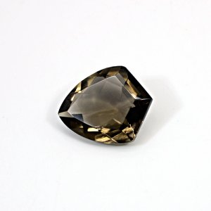 Natural Smoky Quartz 24x20mm Shield Cut 22.60 Cts Loose Gemstone