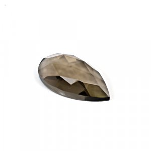 Natural Smoky Quartz 25.25 Cts Pear Rose Cut 30x16mm Loose Gemstone