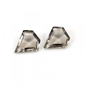 Natural Smoky Quartz 3.50 Cts Fancy Cut 10x7mm 1 Pair Loose Gemstone