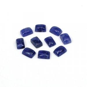 Natural Sodalite Rectangle Cabochon 20 Pcs Lot 6x4mm 10 Cts Loose Gemstone