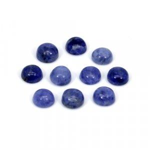 Natural Sodalite Round Cabochon 10 Pcs Lot 6x6mm 8.5 Cts Loose Gemstone