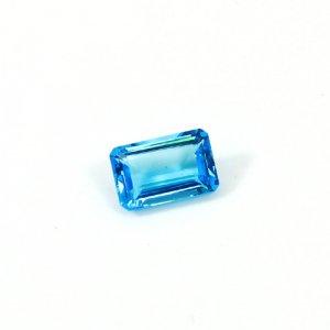 Natural Swiss Blue Topaz 13x8mm Octagon Cut 7.70 Cts Loose Gemstone