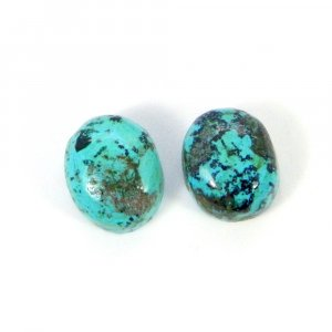 Natural Tibet Turquoise 12x10mm Oval cabochon 11.85 Cts