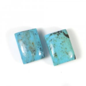 Natural Tibet Turquoise 14x10mm Octagon Cabochon 7.30 Cts