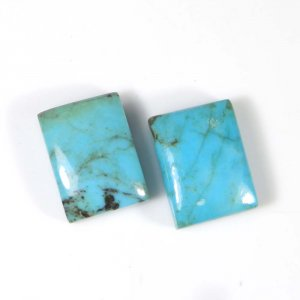 Natural Tibet Turquoise 16x12mm Octagon Cabochon 11.45 Cts