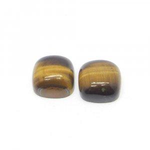 Natural Tiger Eye 10x10mm Cushion Cabochon 5.10 Cts