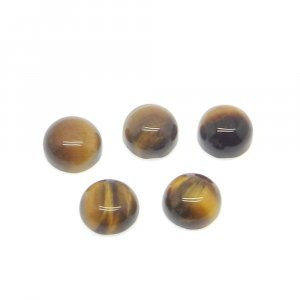 Natural Tiger Eye 8mm Round Cabochon 2.65 Cts