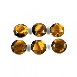 Natural Tiger Eye Gemstone Round Faceted 2.95 Cts 10mm Loose Gemstone